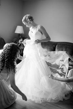 tulle + lace | Katelyn James #wedding