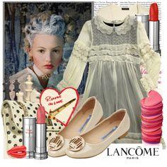 VINTAGE LOVE, #lovely #polkadot #balletflats #lancome