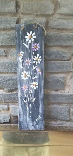 Flowers on reclaimed wood