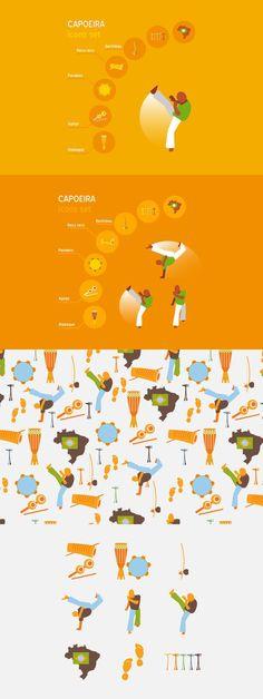 Capoeira vector set. Sport Icons. $5.00