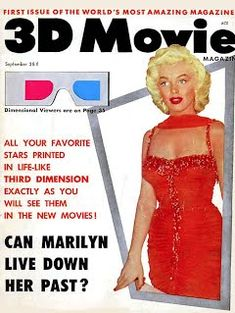 """Marilyn Monroe on the cover of Movie Magazine"""", September Vol. 1 No. Front cover photo of Marilyn as she appeared wearing a costumes from """"Gentlemen Prefer Blondes"""" at the St. Jude's Children's Hospital Benefit, held at the Hollywood Bowl, July Marilyn Monroe Movies, Marilyn Monroe Photos, Marylin Monroe, Angelina Jolie, Comic Art Girls, The Hollywood Bowl, Tony Curtis, Gentlemen Prefer Blondes, Movie Magazine"""