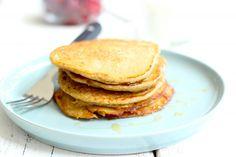 Gezonde havermout pannenkoeken - Lekker en Simpel > met lactosevrije melk of sojamelk