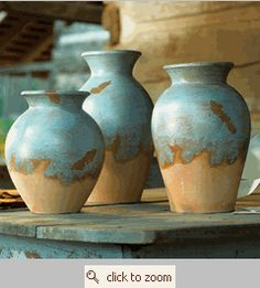 love the colour of these pots