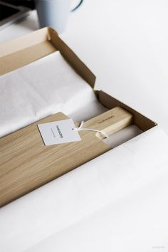 unpacking the beautiful cutting board by @twelvedots - Image Credit: Sarah Dorweiler