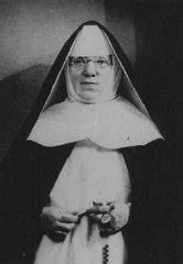 Portrait of Mother Superior Alfonse, who hid Jewish children from the Nazis in the Dominican Convent of Lubbeek near Hasselt.