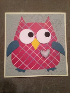 Valentines Day Owl Card