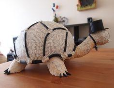 Tortoise - paper mache sculpture - Janaki Lele