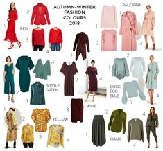 These are the 2018 autumn-winter fashion colours you might like to add to your wardrobe to create fresh looks for the season ahead. Mode 2018 Trends, Autumn 2018 Trends, Fashion 2018 Trends, Fashion Ideas, Fashion Brands, Fashion Tips, Fashion Outfits, Fashion Websites, Fashion Stores