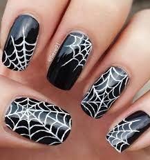 Resultado de imagen para uñas de halloween de telarañas