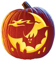 """Midnight Flight"" FREE Pumpkin Carving Pattern Download"