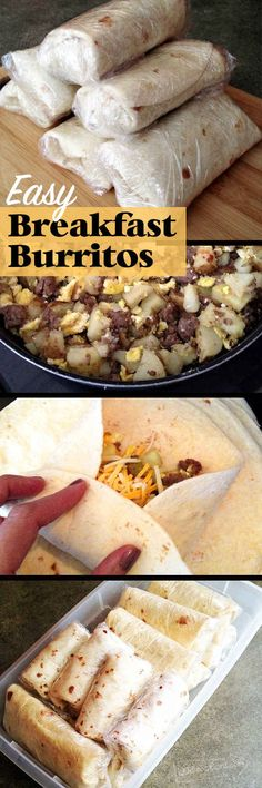 Put these breakfast burritos together to feed an army in the a.m.