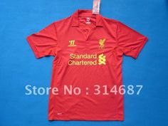 New Arrival 12/13 Best Thailand quality Liverpool home red soccer jersey,Soccer tops,Mix order any size and teams on AliExpress.com. $95.00