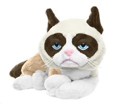 All that grumpiness wears a kitten out! Reclining grumpy plush is just as crabby.