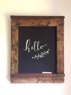 Large Distressed Chalkboard Sign Rustic Chalkboard Sign