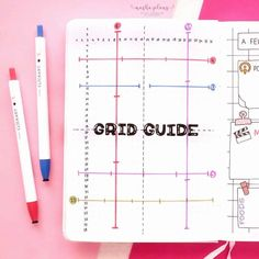 Want to know what's grid spacing guide and how to use it in your Bullet Journal? I'll explain it all in this post and include tons of tips on how to create a perfect one for you. What is a Bullet Journal grid guide? How to create a grid guide spread? I'm here to explain it all and help you create your Bullet Journal pages even faster! #mashaplans #bulletjournal #bujo #gridguide #gridspacing