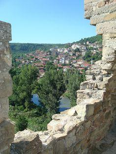 Veliko Tarnovo, Bulgaria. View from the stone walls of Tzarevetz - the town of Bulgarian tzars.