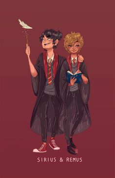 Remus and Sirius gif