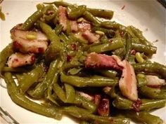 Southern Style Green Beans w/Bacon