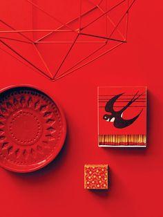 """""""Visual Contrast"""" by Tim Rundle - photos by Polly Wreford via happymundane.com #red"""
