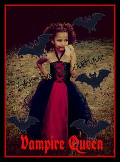 Floor length Vampire Tutu Halloween Costume by GGsBabyBoutique, $45.00: