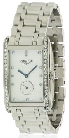 Shop for Longines DolceVita Stainless Steel Ladies Watch Get free delivery On EVERYTHING* Overstock - Your Online Watches Store! Tag Heuer Aquaracer Ladies, Discount Watches, Square Watch, Michael Kors Watch, Jewelry Stores, Chronograph, Rolex Watches, All In One, Bracelet Watch
