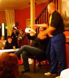 A lesson in the art of misdirection using... toilet paper. Winter Magic with Bryan Gilles at The Groveland Hotel, November 2013.