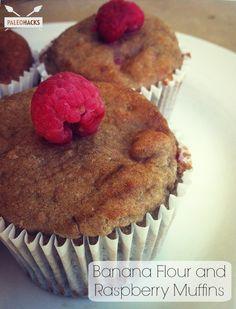 Banana Flour & Raspberry Muffins