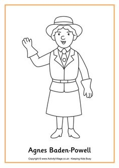 Agnes Baden-Powell colouring page