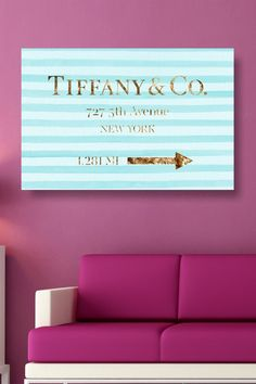 Jewelry Road Sign Canvas Art by Oliver Gal Gallery on @HauteLook
