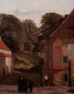 A View of the Square in the Kastel looking Toward the Ramparts, 1830, oil on canvas by Christen Kobke, Danish, 1810-1848.