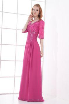 High Quality Silver Square Neckline Half Sleeves Mother Of The Bride Dress - Fannybrides.com