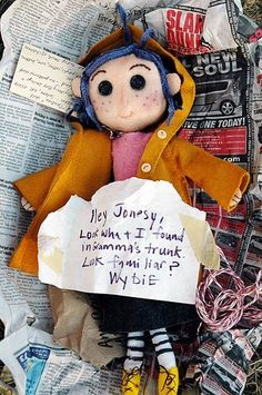 its a coraline doll, thts freaking awesome o-o