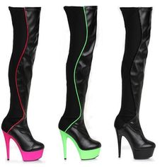 """6"""" Thigh High Boot - Shoes"""