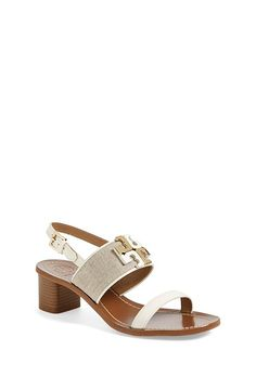 0c0c499563f Tory Burch  Lowell  Linen  amp  Leather Sandal (Women) - on