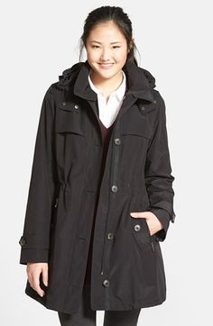Gallery Anorak with Detachable Hood & Liner (Regular & Petite) (Online Only) | Nordstrom