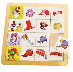 Dřevěná hra Co kam patří? - Rumcajs Playing Cards, Comics, Games, Toys, Art, Activity Toys, Art Background, Playing Card Games, Clearance Toys