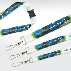 Recycled PET Die Sub Lanyard 15mm Dog Clip