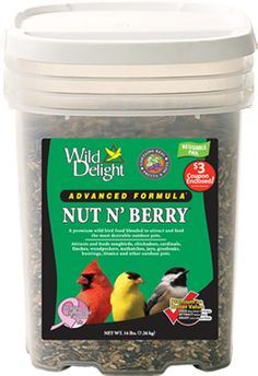 Wild Delight Advanced Formula Nut N' Berry Outdoor Pet Food Pail. Awesome seed which brings loads and loads of great birds to your yard.
