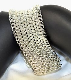 King's Maille Sterling Silver Cuff Bracelet