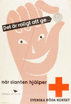 A helping hand!   Vintage Swedish poster design