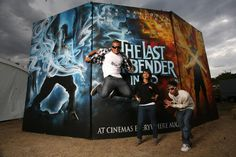 Paramount Pictures - 'The Last Airbender' photo booth backdrop