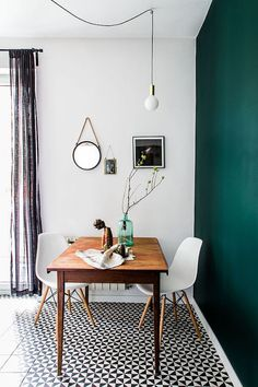 25 Wonderful Small Clean First Apartment Dining Room Ideas. If you are looking for Small Clean First Apartment Dining Room Ideas, You come to the right place. Here are the Small Clean First Apartment. Dining Room Wall Decor, Dining Room Lighting, Dining Room Design, Dining Rooms, Green Dining Room, Dining Tables, Tile Tables, Coffee Tables, Bedroom Decor