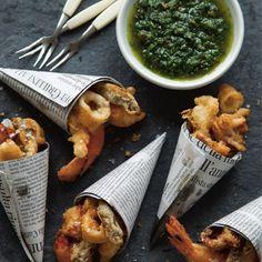 Mini Fritto Misto Cones   Italian recipes   Seafood recipes - Red Online