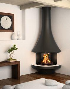 Téléchargez le catalogue et demandez les prix de Eva 992 | cheminée d'angle By jc bordelet, cheminée d'angle murale, Collection cheminées et poêles