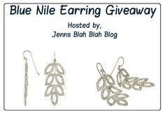 Welcome to the Blue Nile Earring Giveaway Leaf Earrings, Chandelier Earrings, Bear Cupcakes, Easy Entry, Blue Nile, Gifts For Girls, Giveaways, Sterling Silver, Kendall