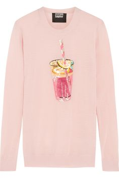MARKUS LUPFER Pink Lemonade sequined merino wool sweater
