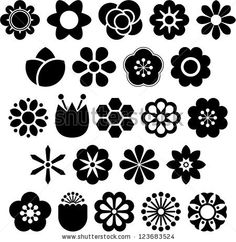 Set of Vectorized Flowers by andromina, via ShutterStock