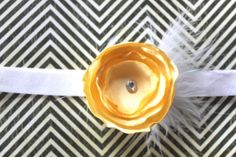Yellow and White Flower Headband, Loving yellow for Spring!