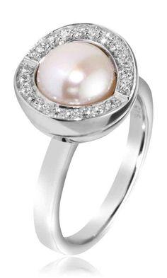 Joy de la Luz | Ring cz silver/pearl  €75,00