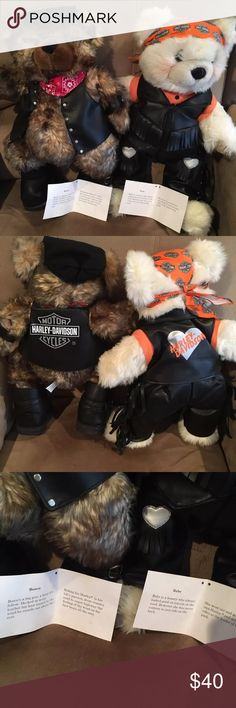 Harley Bears Harley collector bears with certificate ... Set of 2...like new Harley-Davidson Other